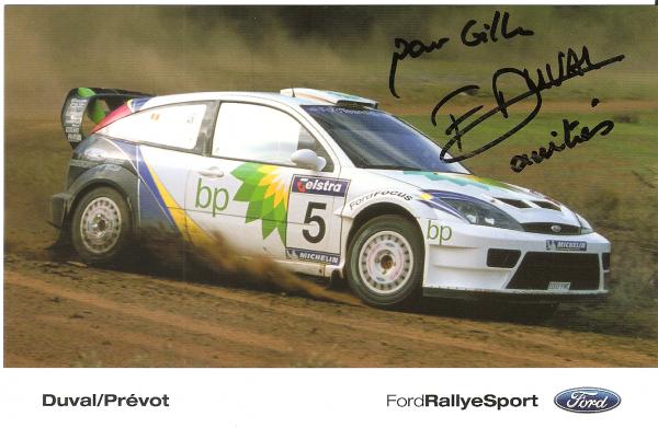 POUR ECHANGE - FORD FOCUS WRC - FRANCOIS DUVAL
