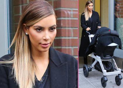 Kim Kardashian Heads Out in NYC with Baby North   Posted Wednesday December 4, 2013 6:49 PM GMT