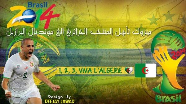 مبروك المنتخب الجزائري في مونديال البرازيل 2014