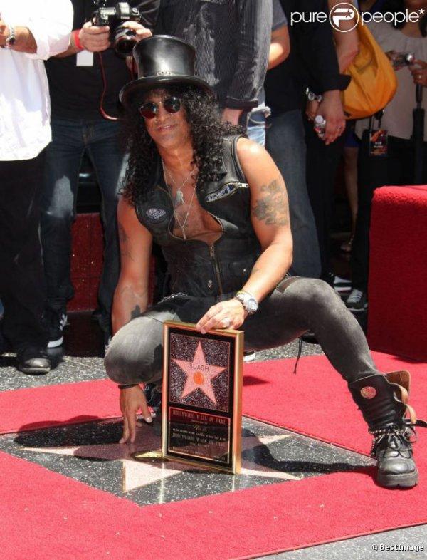 Une étoile sur le Walk Of Fame pour Slash
