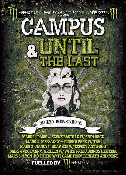 DU 03/01 AU 03/05  CAMPUS (Funtime Records/BE) + UNTIL THE LAST (FR) on tour !!!