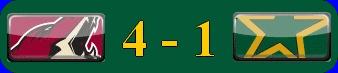 Résumé du match COYOTES @ STARS 07/02/2012