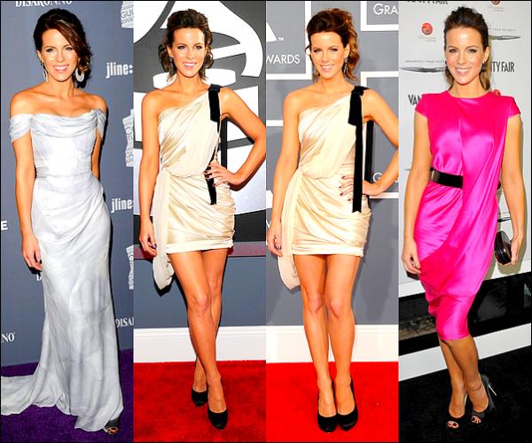 .  (Re)découvrez les différentes apparitions publiques de Kate Beckinsale, entre les mois de Janvier et Juin 2012La jeune femme a enchainé les TOPS, toutes ces tenues sont magnifiques et lui vont à merveille !  Aucune faute de goût.  ♥  .