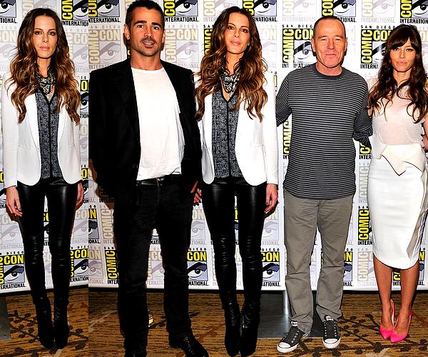""".  Le 13/07 : Kate et tout le cast de """"Total Recall"""" était au Comic-Con, la convention de San Diego Len était également présent puisque c'est le réalisateur. Je rappelle que le film sort le 12 Août en France ! ."""