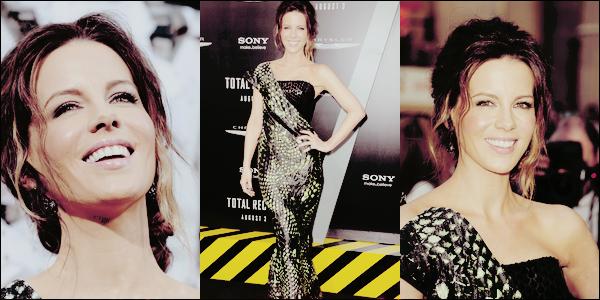 .  Le 01/08 : Kate était à la première hollywoodienne du film 'Total Recall', qui s'est déroulée à Los AngelesJe trouve sa robe originale et absolument magnifique, Kate est merveilleuse dedans !  Un TOP digne de ce nom. ♥  .