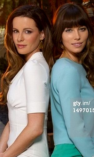 """.  Kate et sa co-star Jessica Biel ont réalisé un joli Shooting pour le magazine """"USA Today"""" ."""