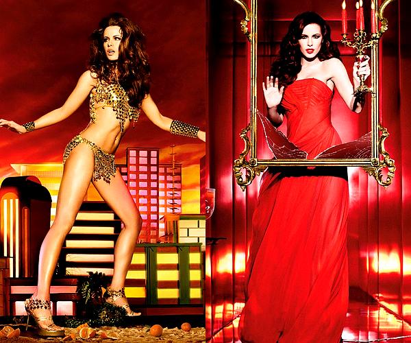 """. (Re)découvrez un Photoshoot de Kate pour la campagne publicitaire """"Absolut Vodka"""", datant de 2009 Ces clichés haut en couleurs ont été réalisés par la célèbre photographe Ellen Von Unwerth. J'aime bien, c'est original !  ♥  ."""