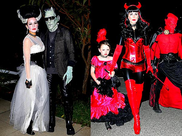 .  Le 20/10 : Kate et sa petite famille se sont rendus aux studios Universal afin d'y fêter Halloween .