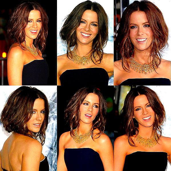 """.   _ ► FLASHBACK Le 09/09/2009 : Kate était à la première de son film """"Whiteout"""", accompagné par son mari Len, à Los Angeles .  Je profite du manque de news pour faire un article Flashback ! J'ai choisis cette apparition car bien que j'aime beaucoup la longue chevelure de notre jolie Kate, je trouve que les cheveux plus courts lui allaient également super bien et j'aurai aimé qu'elle garde cette coiffure plus longtemps... Kate portait une superbe robe signée Jil Sander. Un vrai TOP pour ma part ! ♥ ."""