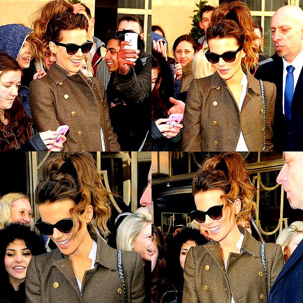 .  Le 20/02 : Kate a été aperçu sortant de son hôtel de Londres, attendue par un grand nombre de fans.