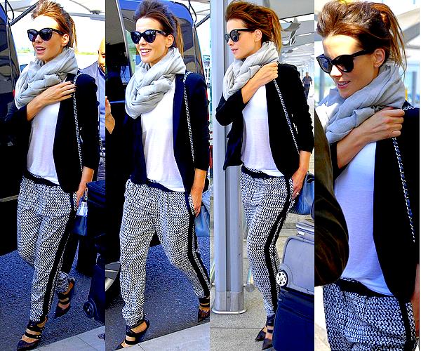 . Le 07/05 : Notre jolie Kate et son mari ont était aperçu alors qu'ils arrivaient à l'aéroport Heathrow de Londres  .
