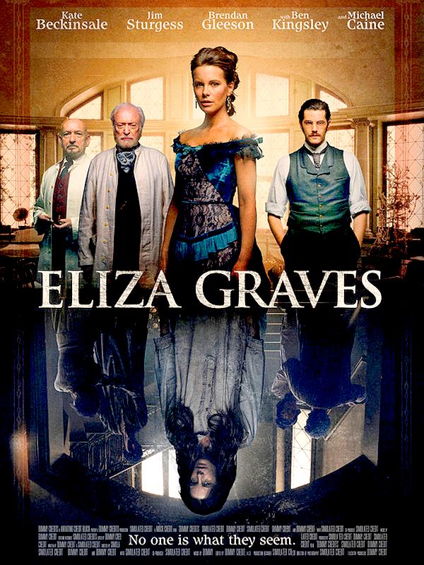 . Découvrez la première affiche de « Eliza Graves », second film de Kate dont la sortie est à venir ! .  Pour rappel, le film est un thriller basé sur une nouvelle de Edgar Allan Poe et se déroulant dans un asile psychiatrique. Kate y tient le rôle principal aux côtés des acteurs Jim Sturgess, Michael Caine et Ben Kingsley (tous trois présents sur le poster). On ne sait pas encore si il s'agit de l'affiche officielle mais en tout cas j'aime beaucoup ! Espérons avoir aussi un trailer sous peu. .