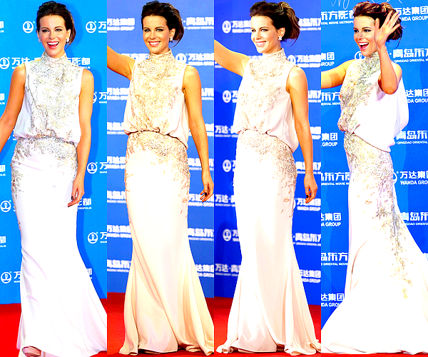 . Le 22/09 : Kate a assisté à un deuxième évènement organisé par « Oriental Movie Metropolis » , en Chine Cette fois-ci vêtue d'une somptueuse robe Elie Saab, elle était une fois encore ravissante et a illuminé le tapis rouge. .