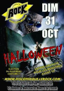 discotheque le rock halloween