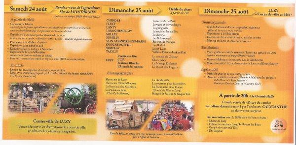 Comice Agricole à Luzy le 24 et le 25 août .