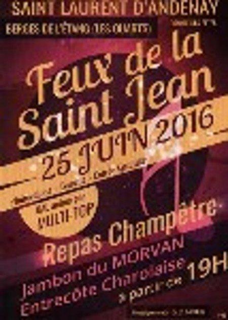 feux de la saint jean le 25 juin 2016.