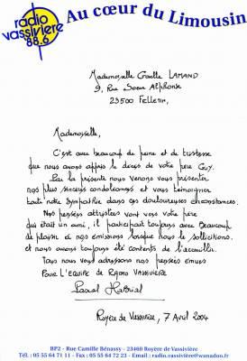Une lettre pour une rencontre