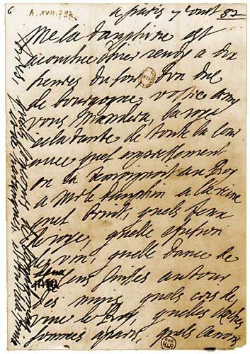 Madame de sévigné a sa fille Madame de grignan.
