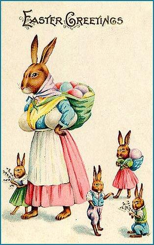 ancienne carte postale de Pâques