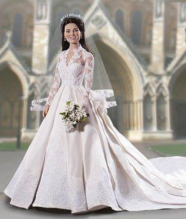 robe de mariée miniature KATE MIDDLETON