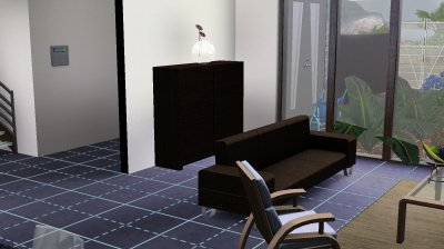 La maison container : le salon, la cuisine et la suite parentale