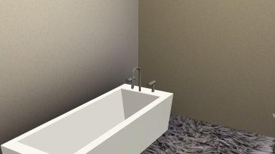 La maison au bord de l'eau : les chambres et la salle de bain