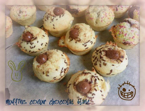 muffins coeur chocolat blanc