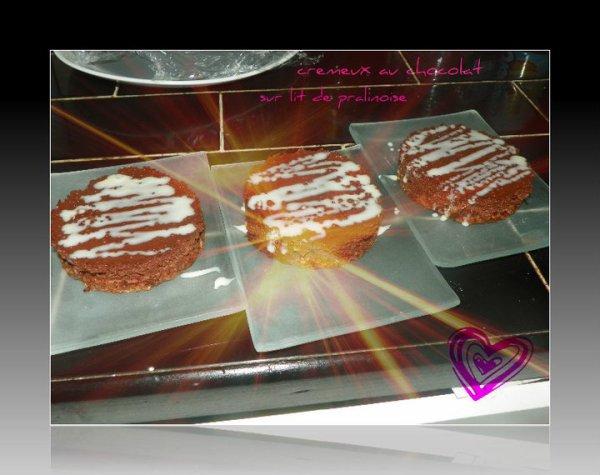 cremeux au chocolat sur pralinoise
