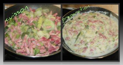 tarte aux poireaux et lardons