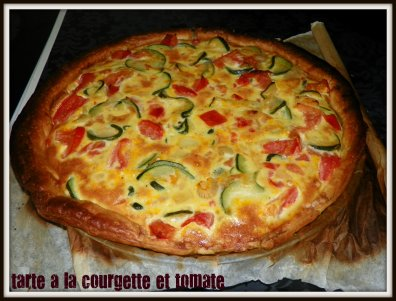 tarte a la courgette et tomate