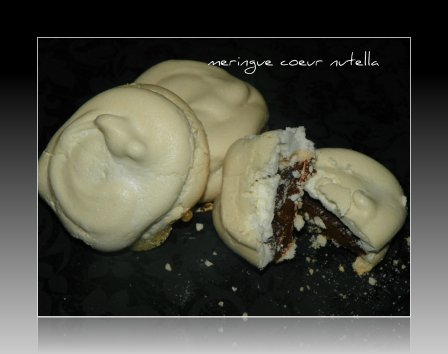 meringue coeur nutella