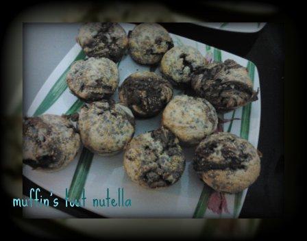muffin's tout nutella