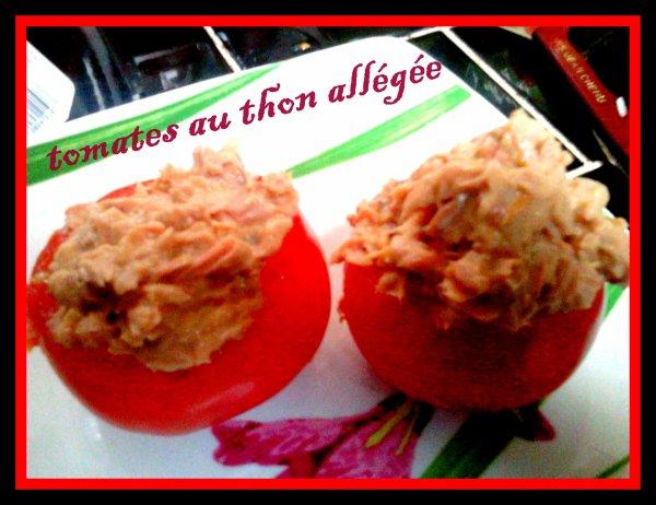tomates au thon allégée