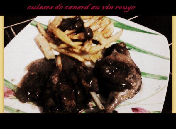 cuisses de canard au vin rouge