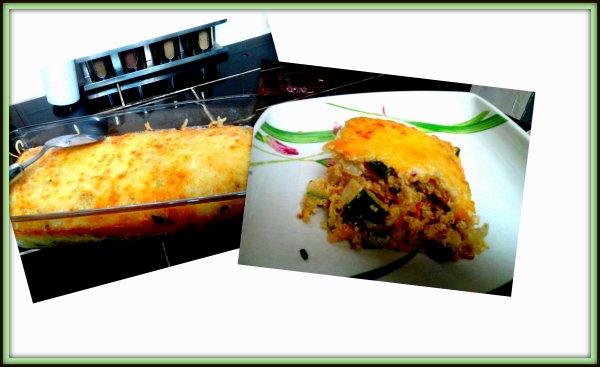 gratin de quinoa et courgette