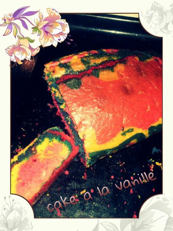 mon cake vanille en couleur
