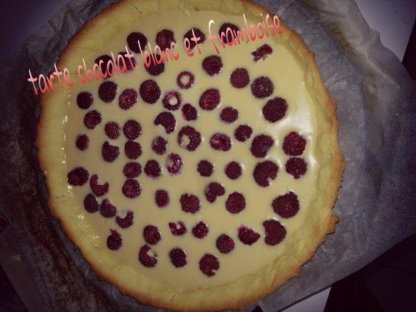 tarte chocolat blanc et framboise