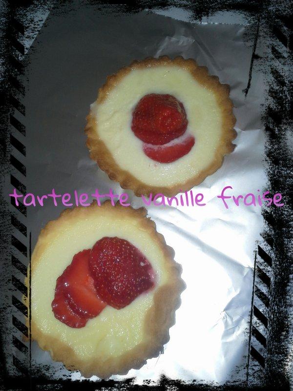 Tartelettes vanille fraise