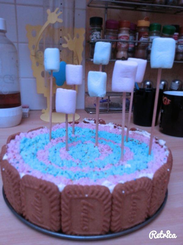 gâteau  chocolat  blanc  et  speculoos