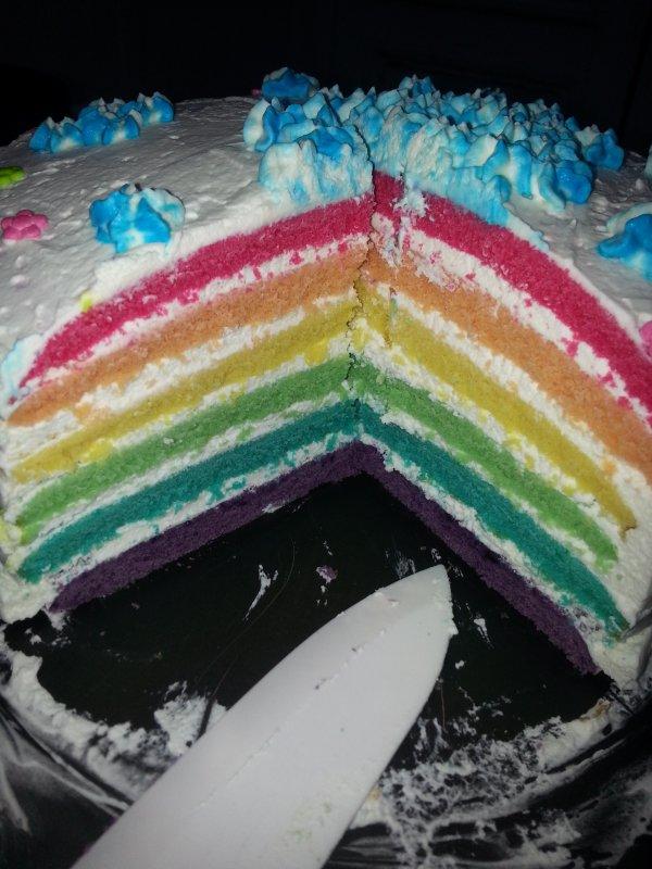 rainbow  cake  🎀