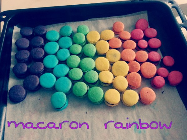 macarons rainbow