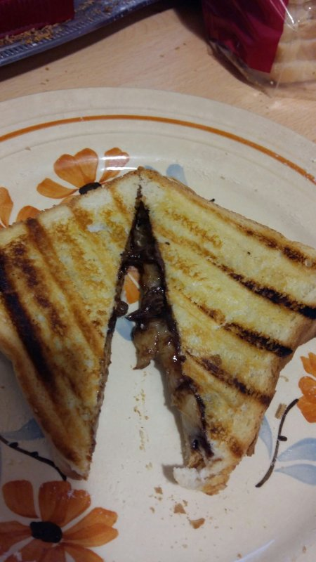Croque monsieur Nutella banane