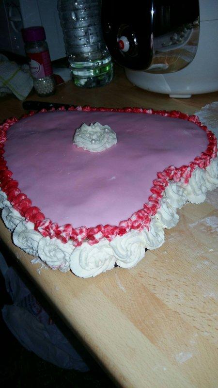 gâteau de St valentin