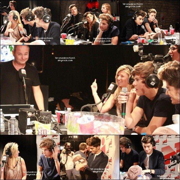 One Direction a Paris hier cher Cauet   (12.10.2012)