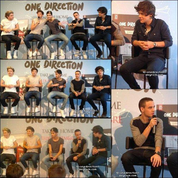 Les One Direction en Espagne a Madrid aujourd'hui (31.10.2012)