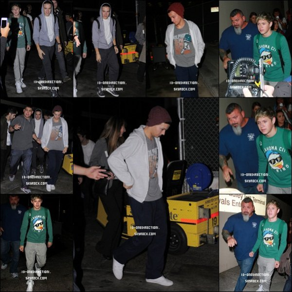 L'arrivée des garçons a l'Aéroport de LAX  (06.11.2012)