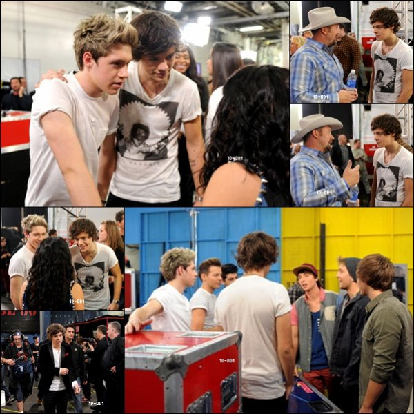 Backstage des One Direction a X FACTOR
