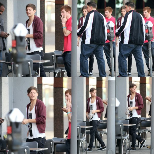 Louis prennent le petit déjeuner à Griddle Cafe à West Hollywood (09.11.2012)