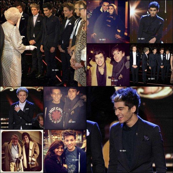 Les garçons rencontrent la Reine d'Angleterre, 19 novembre 2012.