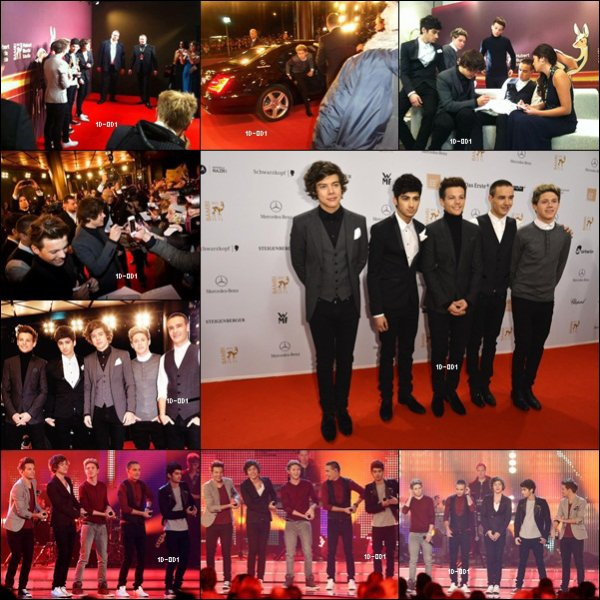 Les étaient One Direction au Bambi Awards Hier ( 22.11.2012)